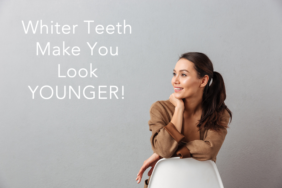 whiter teeth make you look younger