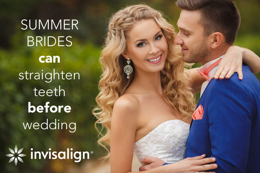 Summer Brides Can Straighten Teeth Before Wedding